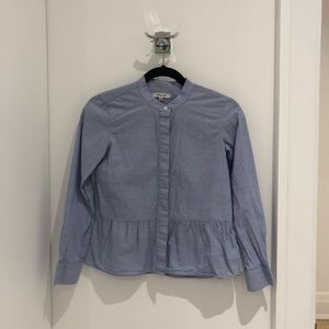 Madewell peplum shirt. Size XXS.